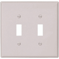 Cooper Wiring 2149W-BOX 2 Gang Oversize 2 Toggle Wall Plate White