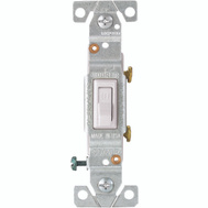 Cooper Wiring 5221-7W-BU Copal Single Pole Toggle Switch 15 Amps 120 Volts White