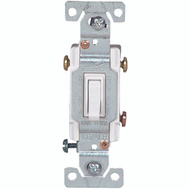 Cooper Wiring 5223-7W-BU Copal 3 Way Toggle Switch 15 Amps 120 Volts White