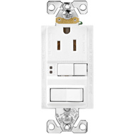 Cooper Wiring SGFS15W-MSP 15 Amp Receptacle Duplex GFCI Self Test With Wallplate White