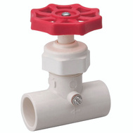 B&K Mueller 105-324 3/4 Inch Cpvc Solvent Weld Stop And Waste Valve