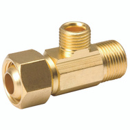 B&K Mueller 993-015NL EZ Connect 3/8 By 1/4 Inch Brass Adapter Tee