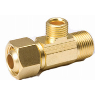 B&K Mueller 993-018NL 1 1/2 By 3/8 Inch Brass Supply Stop Extender Tee