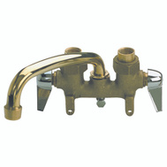 B&K Mueller 125-001 2 Handle 3 Inch Clamp Type Laundry Tray Faucet
