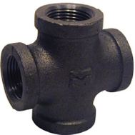 B&K Mueller B-CRS10 1 Inch Black Pipe Cross Fitting
