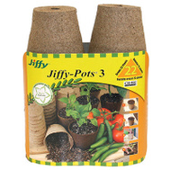 Ferry Morse JP322 Jiffy Jiffy Peat Pots 3 Inch Round 22 Pack