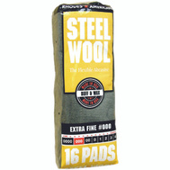 Deft PPG 106601-06 16 Pack Steel Wool Pads 000 Extra Fine
