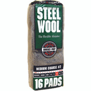 Deft PPG 106605-06 Rhodes America 16 Pack Steel Wool Pads 2 Medium Coarse
