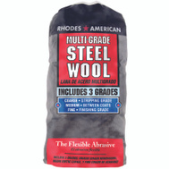 Deft PPG 1021114 Rhodes America 12 Pack Steel Wool Pads Multi Grade Assortment