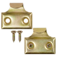 National Hardware S819-021 S751-450 Stanley Window Sash Hook Lifts 1-3/8 Inch Brass Finish 2 Pack
