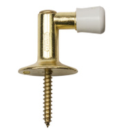 National Hardware S819-043 S755-875 N154-500 Stanley Floor Mount Screw Drive Door Stop Bright Brass