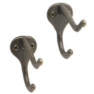 National Hardware S819-001 S756-103 S849-463 Stanley Coat And Hat Hooks Antique Brass 2 Pack