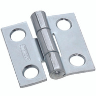 National Hardware S112-550 Stanley Non-Removable Fixed Pin Narrow Hinge 1 By 1 Inch Zinc Plated Steel Bulk