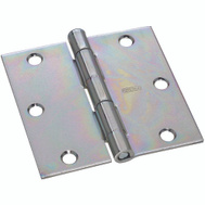 National Hardware S120-800 N139-915 Stanley Removable Pin Broad Hinge 3-1/2 Inch Zinc Plated Steel