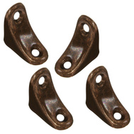 National Hardware S839-209 S730-300 N176-347 N234-625 Stanley 1 By 1 By 3/4 Inch Chair Corner Braces Antique Bronze 4 Pack