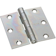 National Hardware S751-475 S819-049 N139-832 Stanley 3 Inch Utility Broad Hinge Zinc Plated Steel