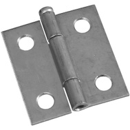 National Hardware S751-576 N141-739 Stanley Removable Pin Narrow Hinges 1-1/2 By 1-7/16 Inch Zinc Plated Steel 2 Pack