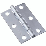 National Hardware S752-072 N141-945 Stanley Removable Pin Narrow Hinges 2-1/2 Inch Zinc Plated Steel 2 Pack