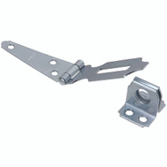 National Hardware S754-680 N129-577 N227-066 Stanley Fixed Staple Hinge Hasps 3 Inch Zinc Plated Steel