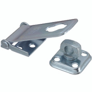 National Hardware S755-200 S811-900 Stanley Latching Hasp With Corrugated Leaf Zinc Plated 3-1/2 Inch