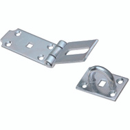 National Hardware S755-600 N236-322 Stanley Heavy Fixed Staple Hasp 7-1/2 Inch Zinc Plated Steel