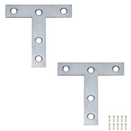 National Hardware S755-750 N113-704 N226-654 Stanley T Plates 3 By 3 By 0.07 Inch Zinc Plated Steel 2 Pack