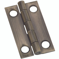 National Hardware S803-082 N211-227 Stanley 1-1/2 By 7/8 Inch Narrow Antiqued Solid Brass Cabinet Hinges 2 Pack