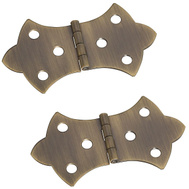 National Hardware S803-472 N211-854 Stanley 1-11/16 By 3-1/16 Inch Antique Solid Brass Hinges 2 Pack