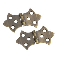 National Hardware S803-462 N211-839 Stanley Decorative Cabinet Hinges 1-5/16 By 2-1/4 Inch Antiqued Solid Brass 2 Pack