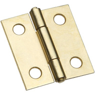 National Hardware S802-010 N237-362 N146-068 Stanley Non Removable Pin Narrow Hinges 1-1/2 Inch Brass Finish 2 Pack