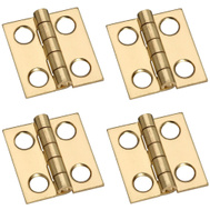 National Hardware S803-110 N211-276 Stanley Middle Craft And Hobby Hinges 3/4 By 11/16 Inch Bright Solid Brass 4 Pack