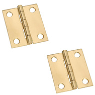 National Hardware S803-220 N211-359 Stanley Broad Craft And Hobby Hinges 1-1/2 By 1-1/4 Inch Bright Solid Brass 2 Pack