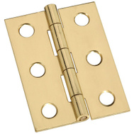 National Hardware S803-230 Stanley 1-3/4 Inch Broad Solid Bright Brass Cabinet Hinges 2 Pack