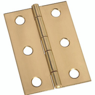 National Hardware S803-250 N211-391 Stanley Broad Craft And Hobby Hinges 2-1/2 By 1-3/4 Inch Bright Solid Brass 2 Pack