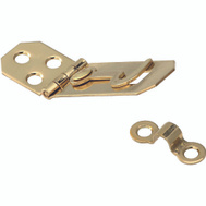 National Hardware S803-530 N211-912 Stanley Tall 3/4 Inch Solid Brass Ornamental Hasp And Hook Bright Brass Finish