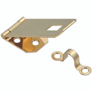 National Hardware S803-550 Stanley 1 Inch By 2-13/16 Inch Solid Brass Ornamental Hasp With Bright Brass Finish
