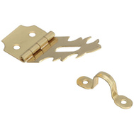 """5 Pk Solid Antique Brass 3//4/"""" Wide X 2 3//4/"""" Long Decorative Latch Hasp N211904"""