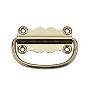 National Hardware S803-610 Stanley 1-1/16 By 2-9/16 Inch Solid Brass Chest Handles Bright Brass 2 Pack