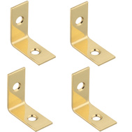 National Hardware S803-800 N213-389 Stanley 1 By 1/2 Inch Solid Brass Corner Braces Bright Brass 4 Pack