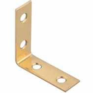 National Hardware S803-810 Stanley 1-1/2 By 1/2 Inch Solid Brass Corner Braces Bright Brass 4 Pack