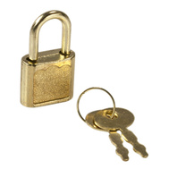 National Hardware S803-870 Stanley 3/4 Inch Solid Brass Ornamental Mini Padlock