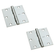 National Hardware S082-050 Stanley Door Hinges 3-1/2 Inch Square Corner Zinc Plated 2 Pack