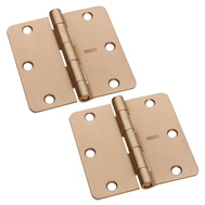 National Hardware S082-430 Stanley Door Hinges 3-1/2 Inch 1/4 Radius Satin Bronze 2 Pack