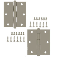 National Hardware S050-480 S050-487 S820-563 Stanley Commercial Door Hinges 3-1/2 Inch Square Corner USP Primed 2 Pack