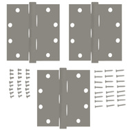 National Hardware S050-490 S050-541 Stanley 4 Inch Architectural Square Door Hinges USP Prime Coat 3 Pack