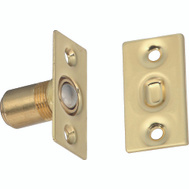 National Hardware S803-942 Stanley Adjustable Ball Catch With Square Plates Bright Brass