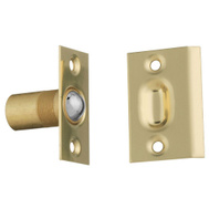 National Hardware S803-945 Stanley Adjustable Ball Catch 13/16 Inch Bore Solid Brass Square Strike Plate