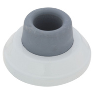 National Hardware S575-423 S575-411 Stanley 2-1/2 Inch Concave Wall Door Stop White