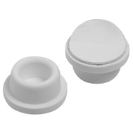 National Hardware S577-099 N215-889 N243-816 Stanley Concave Rubber Door Bumpers 1-7/8 Inch White 2 Pack