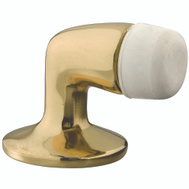 National Hardware S804-007 N215-822 Stanley Floor Mount Door Stop Cast Bright Solid Brass